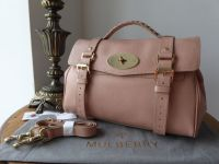 Mulberry Regular Alexa Satchel in Rose Petal Goat Printed Calf - New