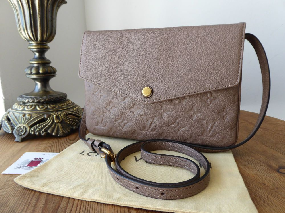 Louis Vuitton Twice Twinset in Taupe Empriente