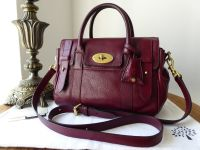 Mulberry Heritage Small Bayswater Satchel in Conker High Pebbled Matte Pebbled Patent Mix & Base Shaper - SOLD