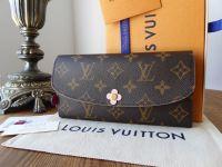 Louis Vuitton Emilie Continental Wallet Purse in Monogram Bloom Flower - SOLD