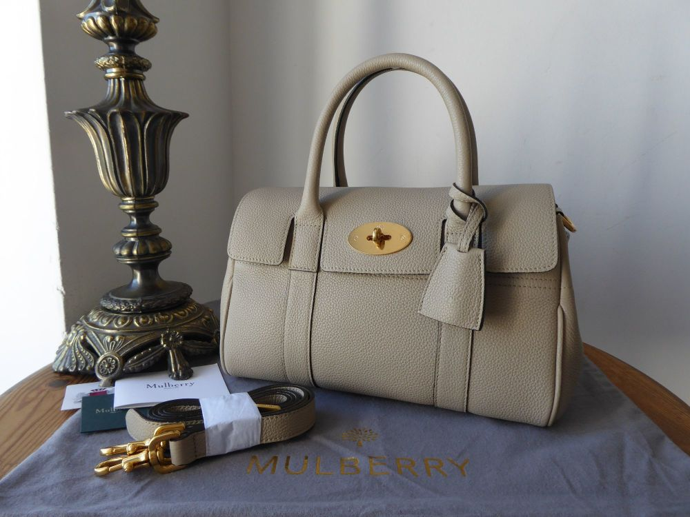 Mulberry Classic Small Bayswater Satchel in Dune Small Classic Grain - As N