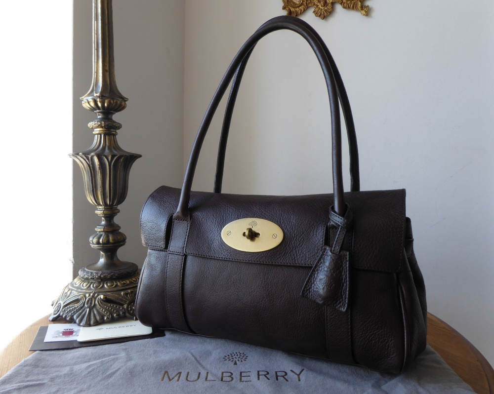Mulberry Classic East West Bayswater in Chocolate Natural Leather