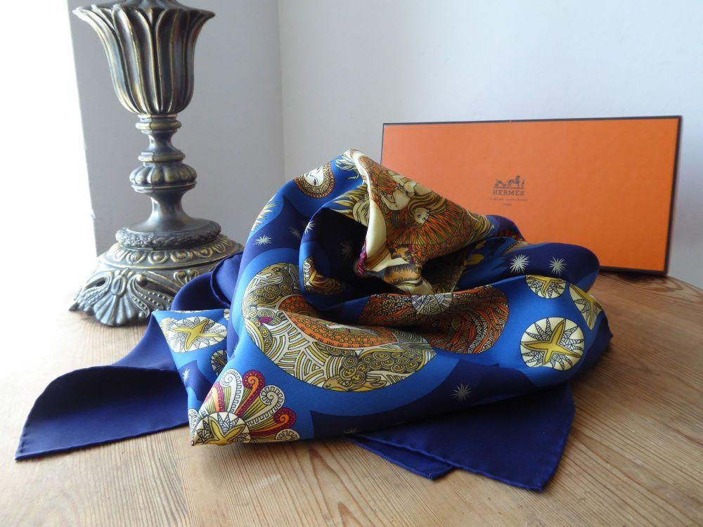 "Hermès Silk Scarf ""Le Roy Soleil"" designed by Annie Faivre"