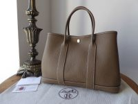 Hermès Small Garden Party TPM 30cm in Etoupe Negonda with Palladium Silver Hardware - SOLD