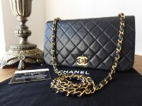 Chanel Vintage Single Flap in Black Lambskin with Gold Hardware - SOLD