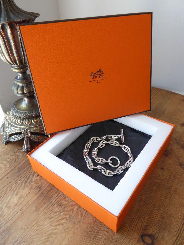 Hermès Chaîne d'Ancre Large Model Necklace in Silver