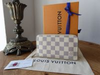 Louis Vuitton Zippy Medium Sized Continental Purse in Damier Azur