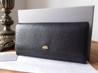 Mulberry Tree Continental Wallet in Black Glossy Goat - SOLD