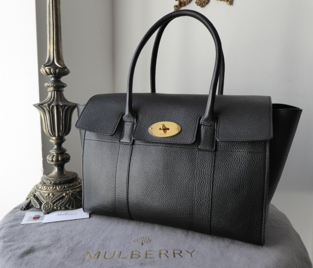 Mulberry New Style Bayswater in Black Small Classic Grain Leather