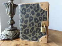 Mulberry Locked A5 Notebook in Printed Leopard Birdsnest Scotchgrain - SOLD