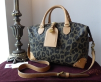Mulberry Small Clipper Duffle in Leopard Print Bird's Nest Scotchgrain - SOLD