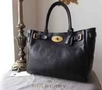 Mulberry Classic Bayswater Tote in Black Natural Leather