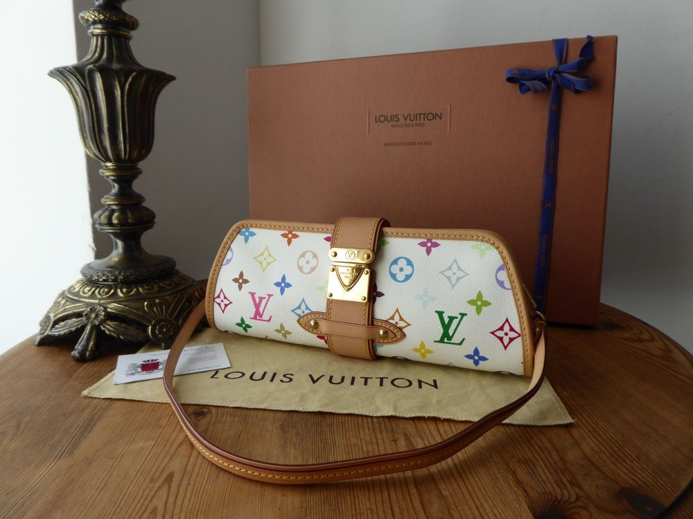 c917a61df94d Louis Vuitton Shirley Shoulder Clutch in Monogram White Multicolore ...