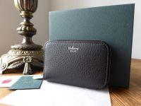 Mulberry Small Zip Around Multicards Purse Wallet in Black Calfskin with Silver Hardware - SOLD