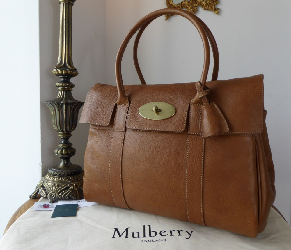 Mulberry Classic Heritage Bayswater in Oak Natural Leather - New*