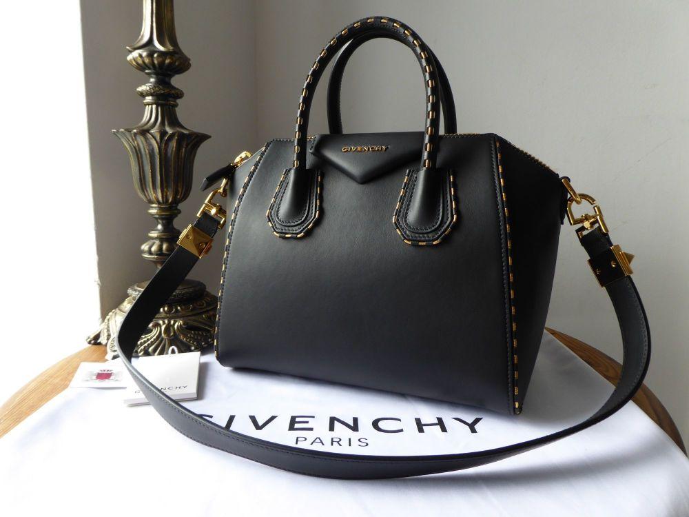 Givenchy Antigona Limited Edition Small Shoulder Bag in Black Calfskin with
