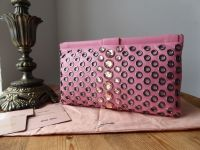 Miu Miu Top Framed Clutch in Jewelled Geranio Nappa Vele with Dark Silver Hardware - New*