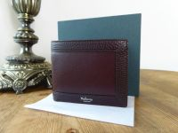 Mulberry 8 Card Wallet in Oxblood Smooth Calf and Natural Grain Leather - SOLD