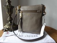 Marc Jacobs 'Recruit' North South Messenger Bag in Mink Grey Pebbled Leather - New