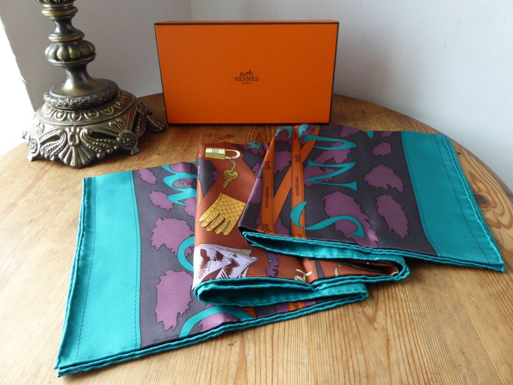 Hermès Silk Scarf Monsieur & Madame by Bali Barret & Robert Dallet - New*