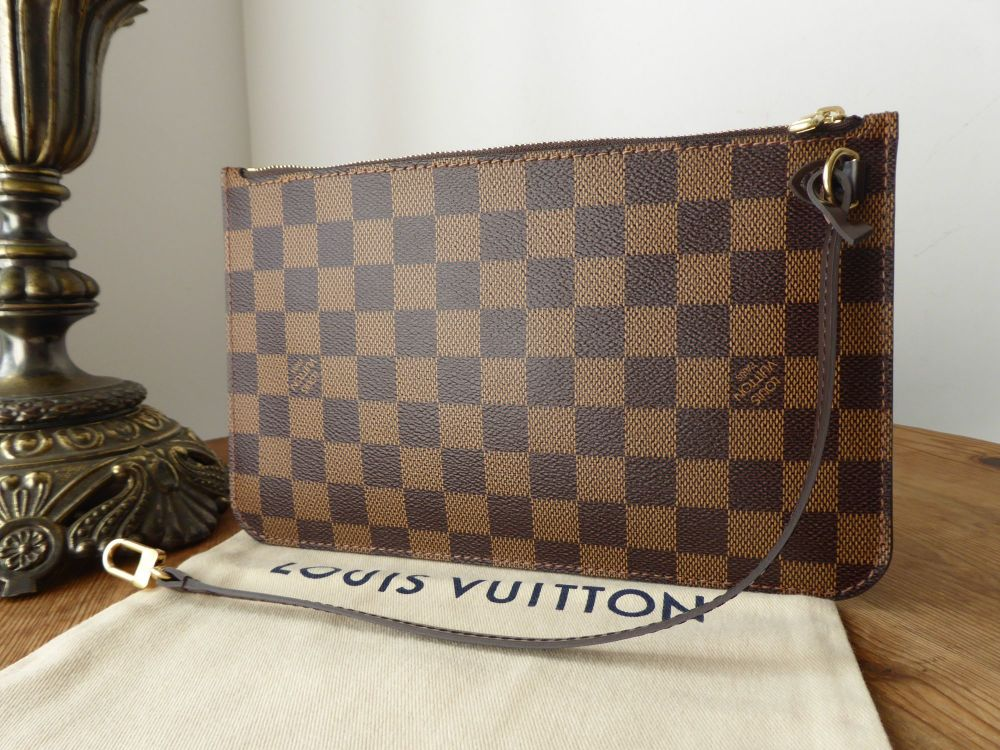 Louis Vuitton Zip Pochette Pouch Wrislet from Neverfull MM in Damier Ebene