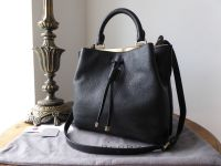 Mulberry Small Kensington Drawstring Satchel in Black Small Classic Grain - SOLD