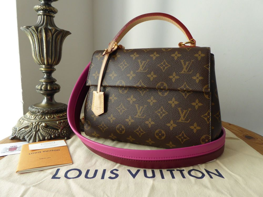 507c007ee47 Louis Vuitton Cluny BB in Monogram Bordeaux Fuchsia - SOLD