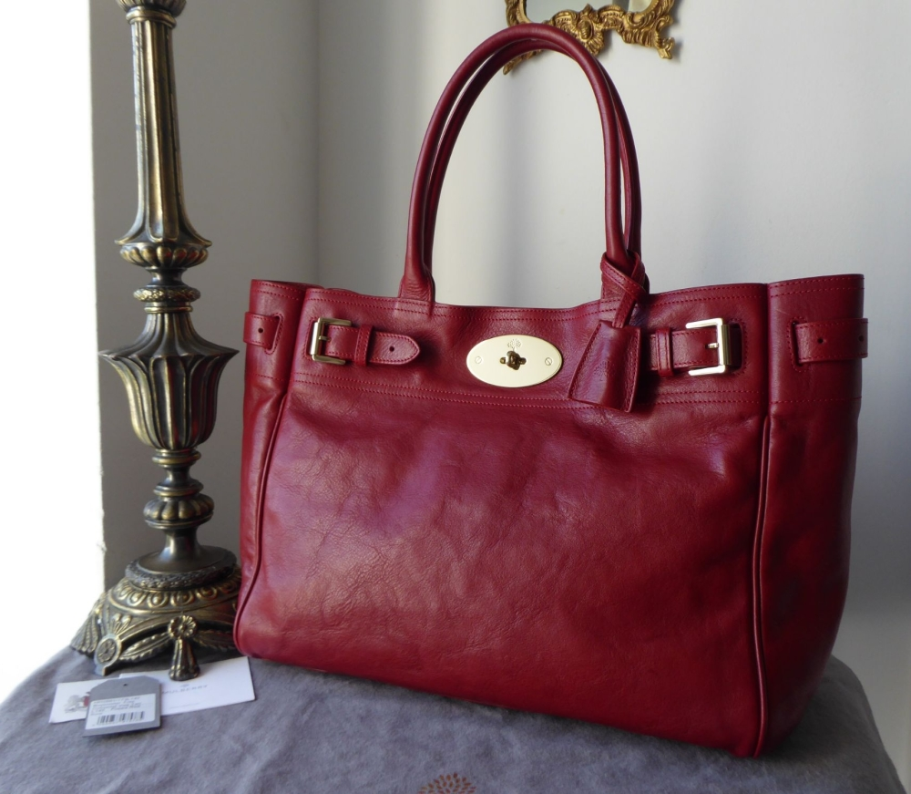 Mulberry Classic Bayswater Tote in Poppy Red Natural Leather