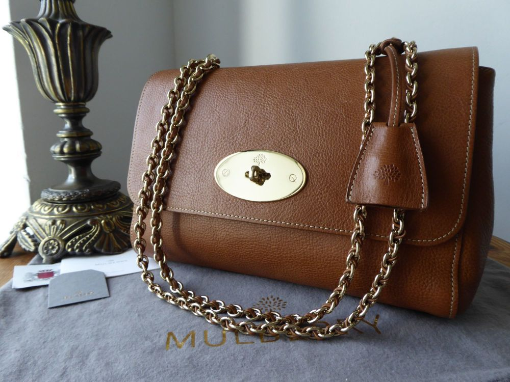 Mulberry Medium Lily in Oak Natural Leather
