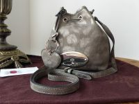 Mulberry Mini Edna Messenger in Mole Grey Giant Sparkle Leopard Printed Leather