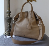Mulberry Large Alice Zipped Tote in Mushroom Grey Small Classic Grain
