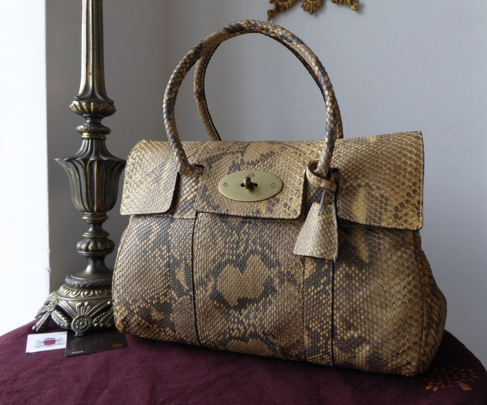 Mulberry Classic Bayswater in Blonde Python Snakeskin