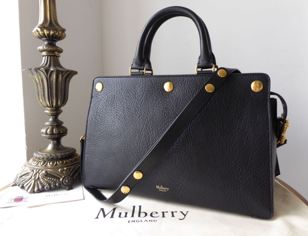 Mulberry Chester in Black Textured Goat Leather - New