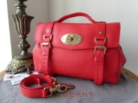 Mulberry Regular Alexa Satchel in Hibiscus Lamb Nappa - SOLD