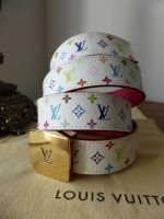 Louis Vuitton Cut Multicolore White and Fuchsia Reversible Belt