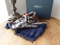 Mulberry 'Hunt & Hounds' Square Printed Wrap in Modal Silk Mix - New*