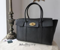 Mulberry New Style Bayswater in Black Small Classic Grain Leather - As New