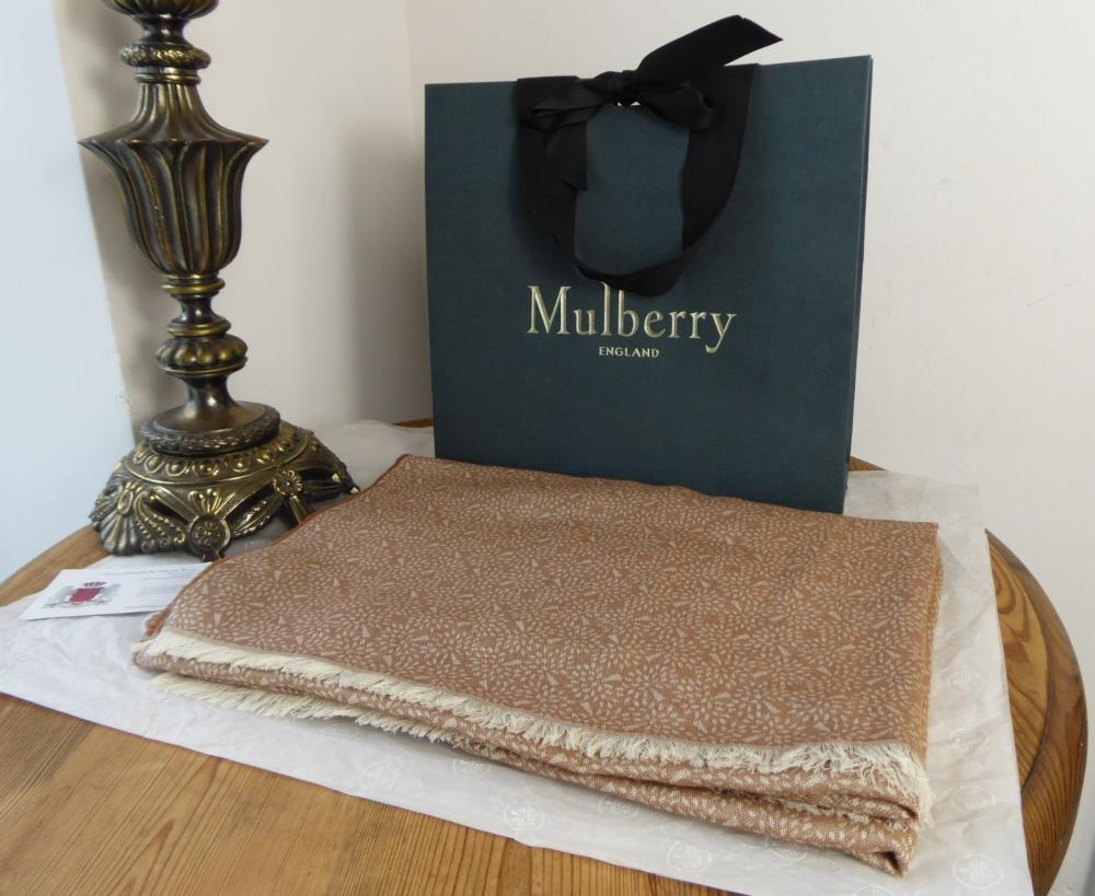 Mulberry Tamara Scarf in Oak Superfine Cotton