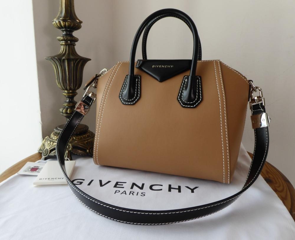 Givenchy Antigona in Bicolore Deer Brown and Black Calfskin - New