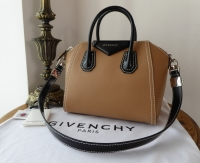 Givenchy Antigona in Bicolore Deer Brown and Black Calfskin - New