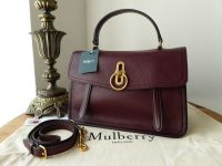 Mulberry Gracy Satchel in Burgundy Textured Goat & Smooth Calf - New