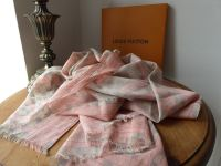 Louis Vuitton Damier Azur Tahitienne Rose Cotton Scarf Wrap