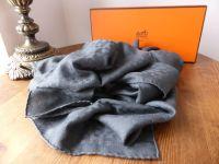 Hermés Grand H Façonnée Scarf Stole in Gris Jacquard Silk and Cashmere