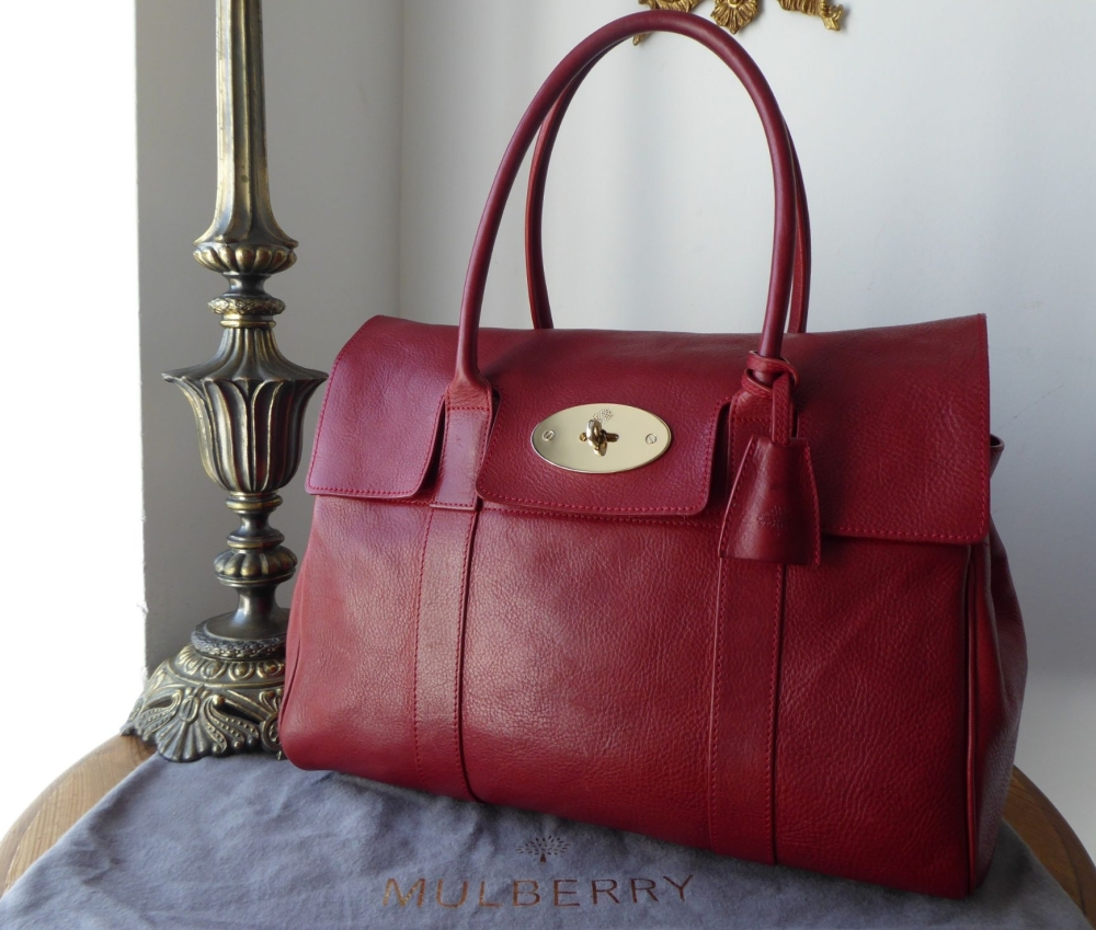 Mulberry Classic Bayswater in Poppy Red Natural Leather