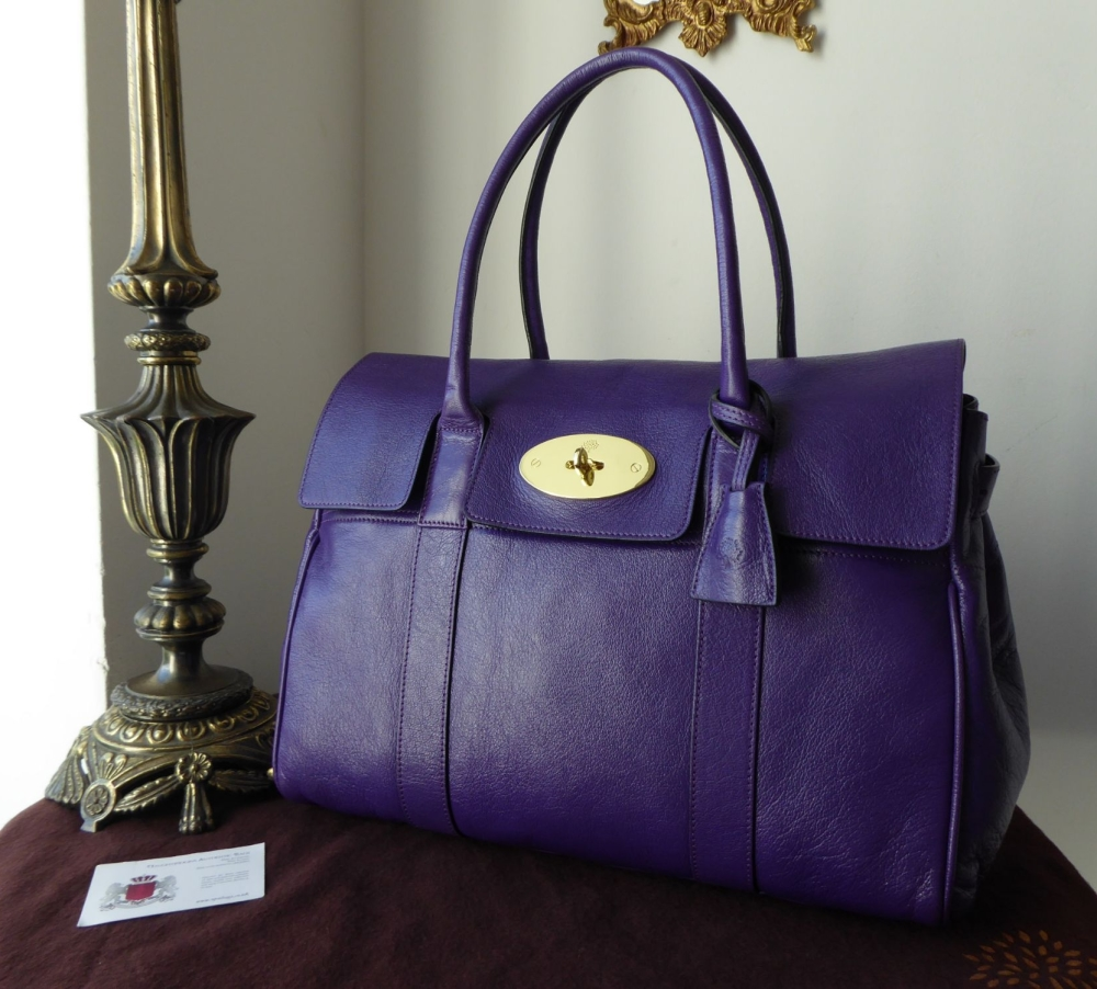 Mulberry Classic Bayswater in Blueberry Glazed Goat