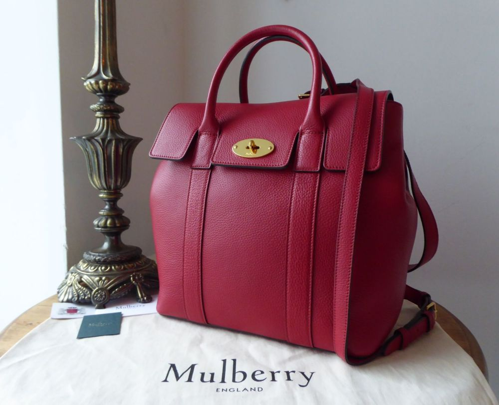 Mulberry Bayswater Backpack in Scarlet Red Small Classic Grain
