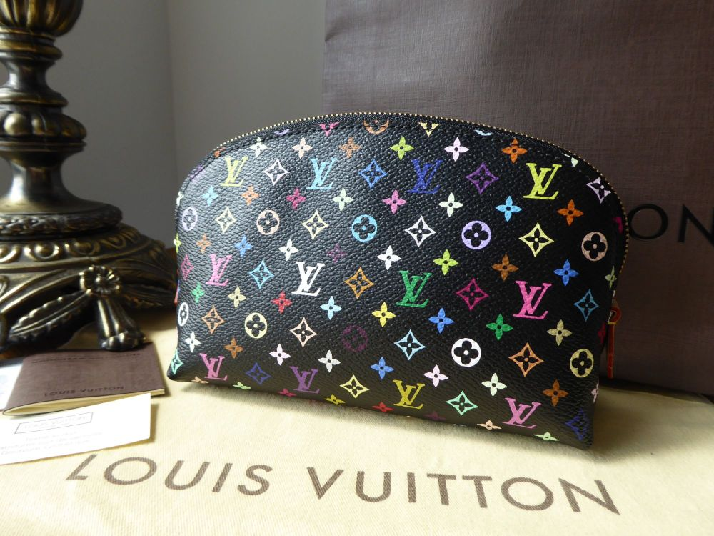 Louis Vuitton Cosmetic Pouch in Multicolore Noir - As New
