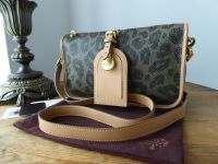 Mulberry Small Zipped Shoulder Satchel in Leopard Printed Birds Nest Scotchgrain - SOLD