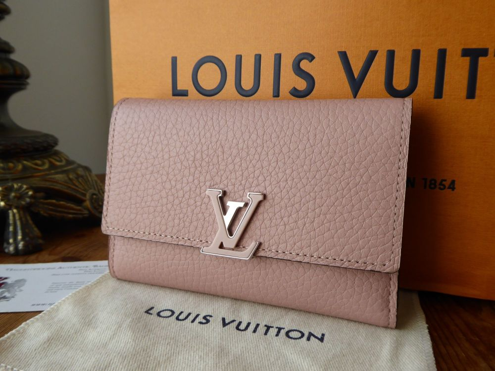 Louis Vuitton Capucines Compact Wallet in Magnolia Pink Taurillon Leather