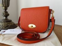 Mulberry Small Darley Postmans Lock Satchel in Bright Orange Small Classic Grain - New*